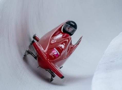 Maude Davis Crossland COL competes in the Bobsleigh Women's Monobob at St. Moritz Olympia Bob Run. The Winter Youth Olympic Games, Lausanne, Switzerland, Sunday 19 January 2020. Photo: OIS/Thomas Lovelock. Handout image supplied by OIS/IOC