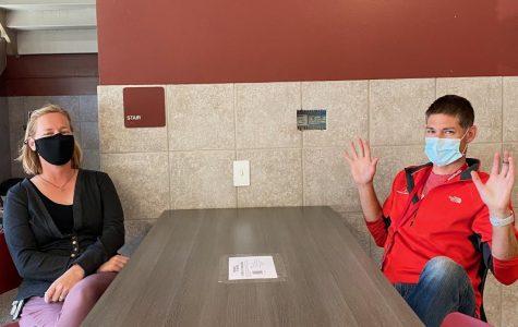 Assistant Principal Amie Campbell and AP English Literature teacher Steve Cutitta