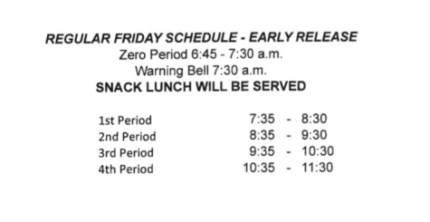 Short Friday Schedules, Let