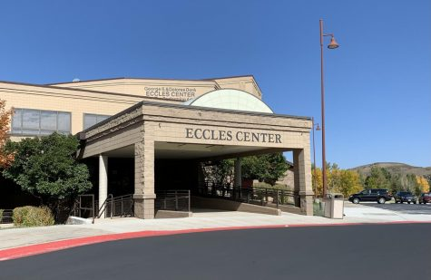 The outside of the Eccles Center where the showcase was held.