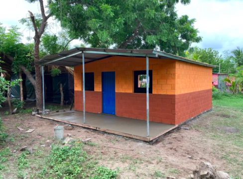 The house the students built in Nicaragua.